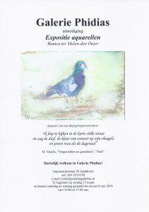 Uitnodiging expositie aquarellen 2016